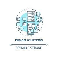 ícone de conceito de soluções de design vetor