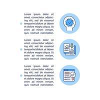 ícones de linha de conceito básico de ux com texto vetor