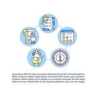 ícones de linha de conceito de princípios de design ux com texto vetor