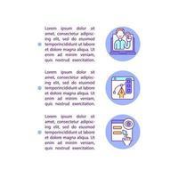 ícones de linha de conceito de interface de usuário com texto vetor