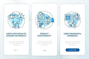 tela da página do aplicativo móvel de integração da melhoria ux vetor