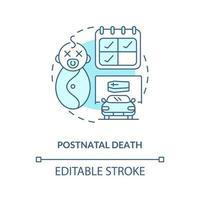 ícone de conceito azul pós-parto vetor