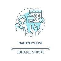 ícone de conceito azul de licença maternidade vetor