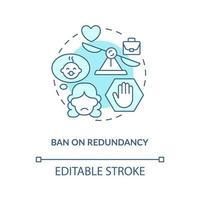 proibição de ícone de conceito azul de redundância vetor