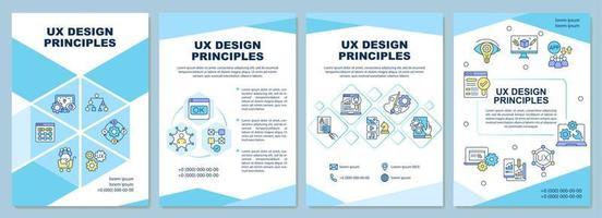 modelo de folheto de princípios de design ux vetor