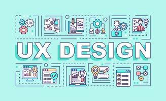 banner de conceitos de palavras de design ux vetor