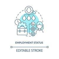 ícone de conceito azul de status de emprego vetor