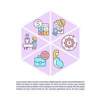 ícones de linha de conceito de licença de maternidade com texto vetor