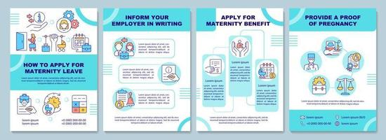 como solicitar o modelo de folheto de licença maternidade vetor