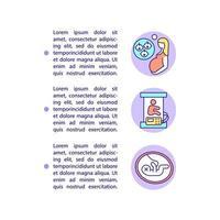 ícones de linha do conceito de nascimentos múltiplos e natimortos precoces com texto vetor
