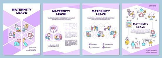 modelo de folheto de licença maternidade vetor