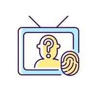 investigação online mostra ícone de cor rgb vetor
