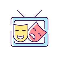 ícone de cor rgb tv drama vetor