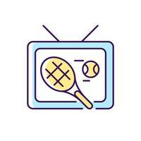 esportes mostram ícone de cor rgb vetor