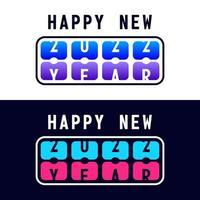 feliz ano novo com a contagem regressiva de 2022 no placar. conceito de flipboard numérico, comemorar o modelo de calendário de 2022. ilustração em vetor design moderno tendência estilo simples.