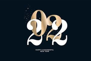 cartão de feliz ano novo 2022 vetor