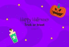 fundo de halloween com abóbora, veneno vetor