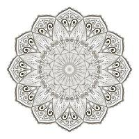 desenho de linha de conceito criativo de design de mandala vetor