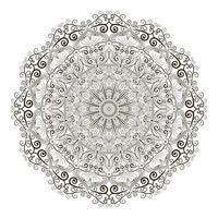 desenho de conceito criativo de design de mandala vetor