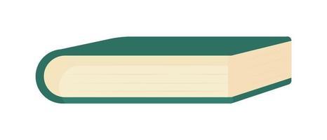 livro fechado objeto de vetor de cor semi-plana