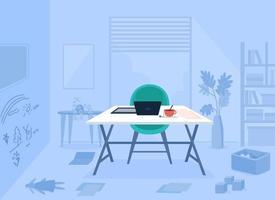 ilustração em vetor cor lisa trabalhando quarto da mãe