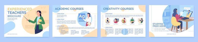 modelo de folheto de vetor plano de curso de aprendizagem on-line