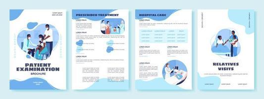 tratamento em modelo de folheto de vetor plana de hospital