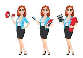 conceito de mulher de negócios moderna vetor