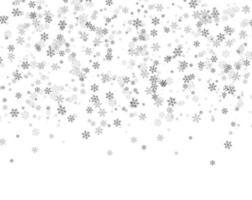 flocos de neve caindo do céu vetor