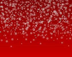 muitos flocos de neve caindo do céu vetor