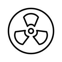 Ícone de vetor de radiação