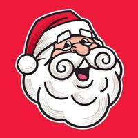 Feliz Natal. personagem principal retrô feliz do papai noel dos desenhos animados. vetor