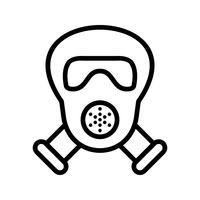 Ícone de vetor de máscara de gás
