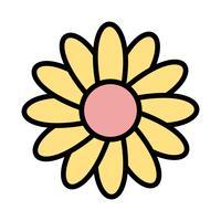 Ícone de vetor de Daisy