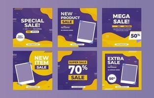 postagem de promoção de venda na mídia social vetor