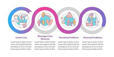 modelo de infográfico de vetor de crise de meia-idade