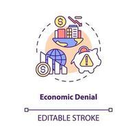ícone do conceito de negação econômica vetor