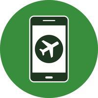 Ícone de vetor de aplicativo móvel de avião