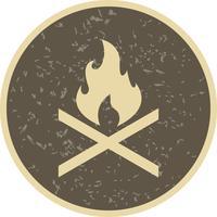 Ícone de vetor de fogo de osso
