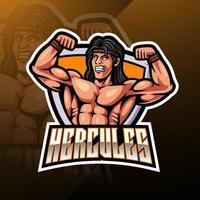 design do logotipo do mascote hercules esport vetor