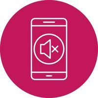 Ícone de vetor de aplicativo móvel silencioso
