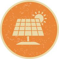 Ícone de vetor de painel solar