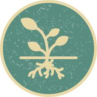 Ícone de vetor de raiz