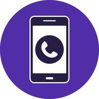 Chame o ícone de vetor de aplicativo móvel