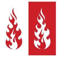 fogo logotipo modelo chama símbolo ícone vetor