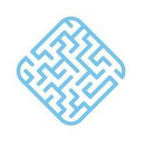 labirinto fácil. jogo para crianças. quebra-cabeça para crianças. enigma do labirinto. ilustração vetorial. vetor