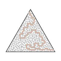 difícil grande labirinto. jogo para crianças e adultos. quebra-cabeça para crianças. enigma do labirinto. ilustração vetorial plana. vetor