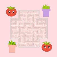 Labirinto. jogo para crianças. labirinto engraçado. página de atividades. quebra-cabeça para crianças. estilo dos desenhos animados. enigma para a pré-escola. planilha de desenvolvimento educacional. ilustração do vetor de cor.
