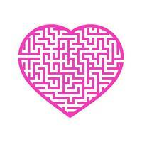 labirinto abstrato. jogo para crianças. quebra-cabeça para crianças. enigma do labirinto. ilustração vetorial. vetor