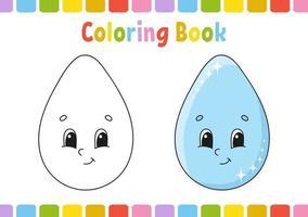 derrubar. livro de colorir para crianças. personagem alegre. ilustração vetorial. estilo bonito dos desenhos animados. desenhado à mão. página de fantasia para crianças. isolado no fundo branco. vetor